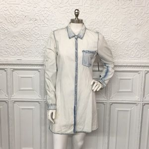 Buffalo David Bitton NWT Acid Wash Shirt Dress